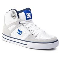 Sneakersy DC - Pure High-Top Wc ADYS400043 White/Blue (Wbl)