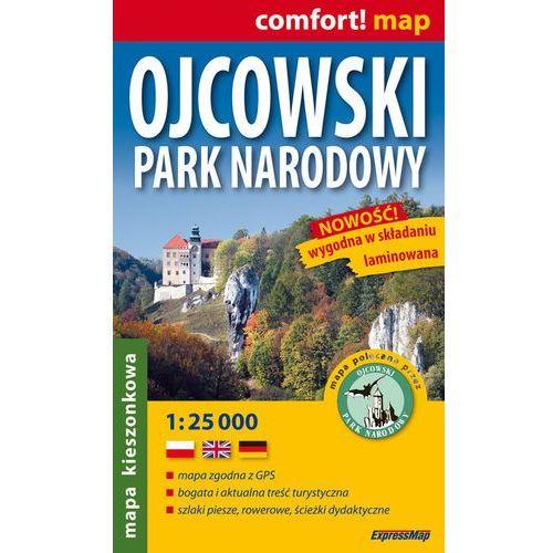 Ojcowski Park Narodowy Mapa Kieszonkowa 1:25 000, książka w oprawie miękkej