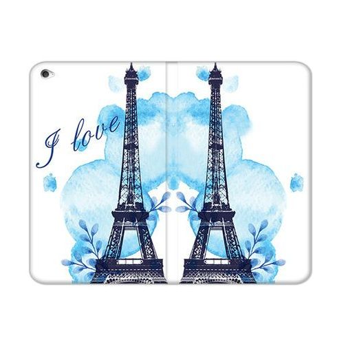 Etuo.pl Etuo flex book fantastic - apple ipad mini 4 - etui na tablet flex book fantastic - niebieska wieża eiffla