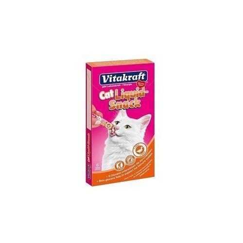 Vitakraft cat liquid snack - przysmak dla kota smak: kaczka, betaglukan 6szt.