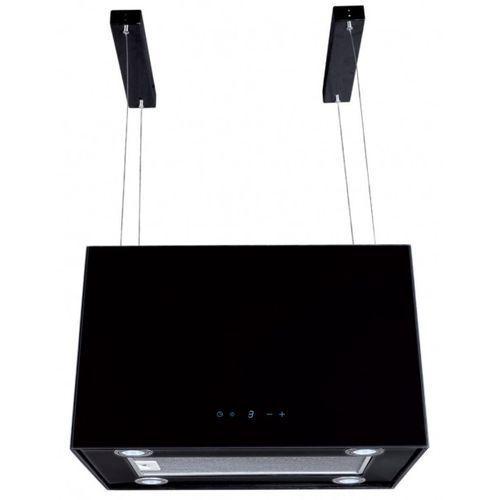Okap wyspowy ok-4 sandy maxi glass, kolor: czarny, szerokość: 60 cm, turbina: 700 m3/h szybka wysyłka / tel. 531 855 855 marki Toflesz