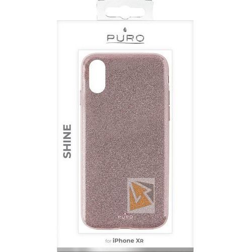 Puro Etui glitter shine cover do iphone xr różowe zloto (8033830265785)