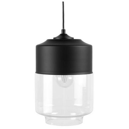 Lampa wisząca ze szkła czarna i przezroczysta JURUA