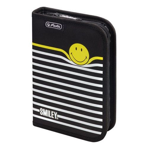 Herlitz Piórnik wyposaż 19 smiley.world b y stripe - black&yellow stripes