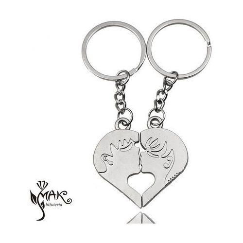Bk918 breloki do kluczy serce dziewczyna chłopiec marki Mak-biżuteria