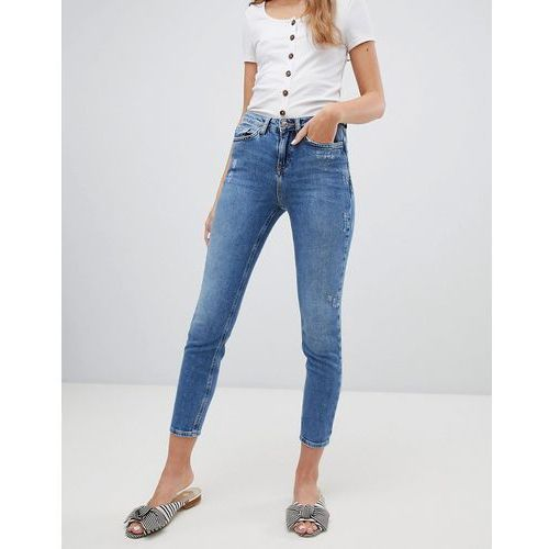 relaxed skinny jeans - blue, New look