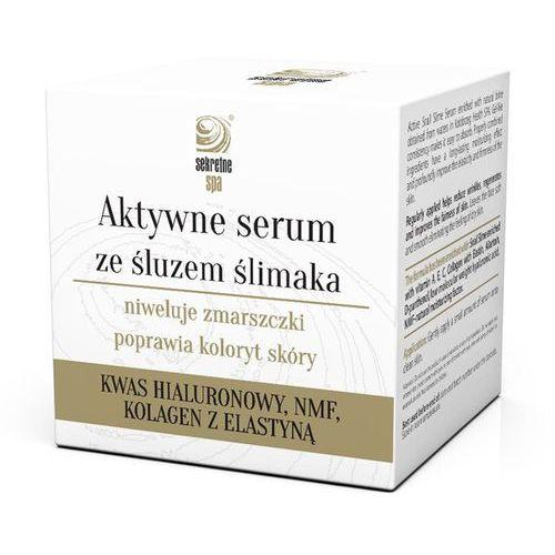 Aktywne serum ze śluzem ślimaka 50ml Sekretne Spa