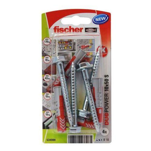 Fischer Kołek uniwersalny duopower 10 x 50 z wkrętem 4 szt.
