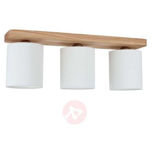 Spot-light 3-punktowa lampa sufitowa jenta, rozeta z drewna