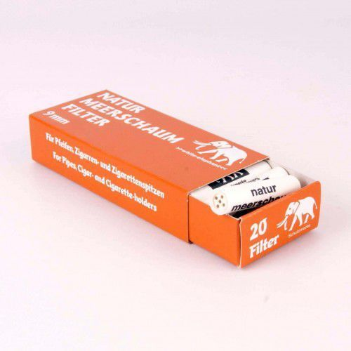Filtr fajkowy, filtry do fajki 9mm meerschaum 20 szt 05028 marki White elephant