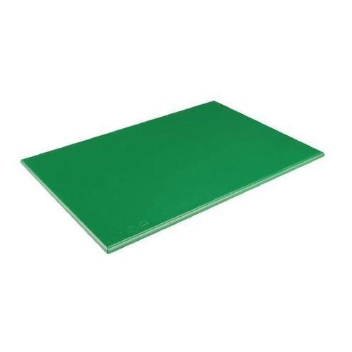 Outlet - deska do krojenia hdpe   zielona   450x300x25mm marki Hygiplas