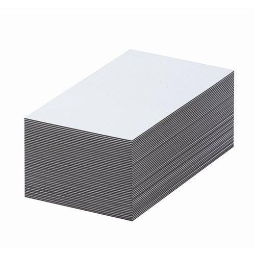 Magnetyczna tablica magazynowa, białe, wys. x szer. 30x100 mm, opak. 100 szt. za marki Haas