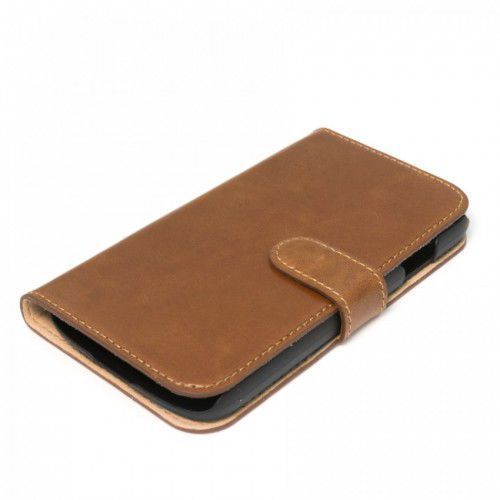 LEATHER SAMSUNG GALAXY S4 LEATHER BROWN BOOK CASE