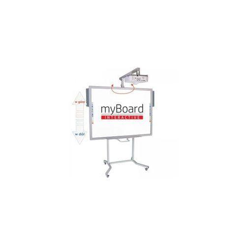 """ZESTAW! Tablica myBoard Silver 84""""C + projektor krótkoogniskowy Epson EB-530 + statyw VIS-RW100 + okablowanie 10 m (230V, HDMI) + głośniki AMP-32"""