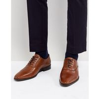 toe cap derby shoes in tan leather - tan, Dune