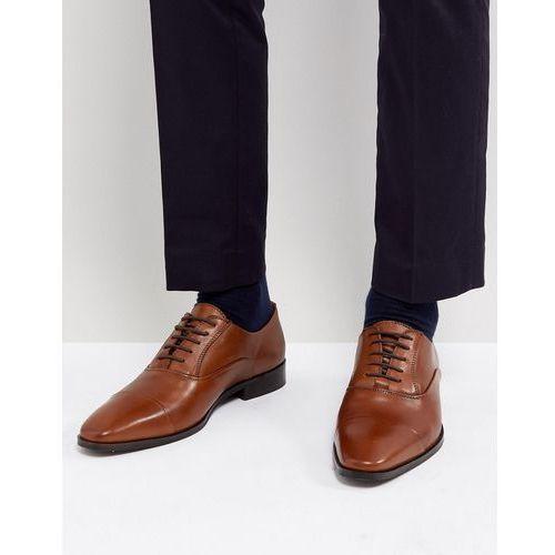 toe cap derby shoes in tan leather - tan marki Dune