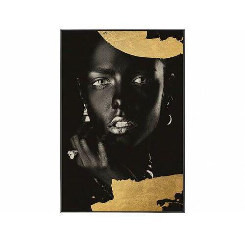Vente-unique Obraz drukowany w ramie classe – 60 × 90 × 2,5 cm (dł. × szer. × wys.) – kolor złoty i czarny