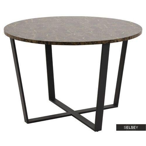 SELSEY Stół Adhafera brązowy średnica 110 cm (5903025415833)