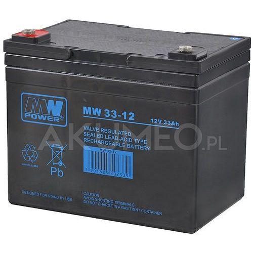 Akumulator agm mw 33-12 vrla 12v 33ah marki Mw power