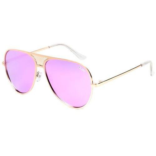 Quay australia Okulary słoneczne qc-000217 quayxkylie iconic gld/purp