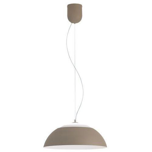 Eglo Lampa wisząca marghera 39293 zwis oprawa 1x8.5w+1x19,2w led brązowoszara / biała (9002759392932)