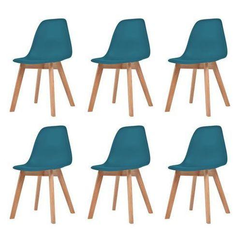 Krzesła do jadalni, 6 sztuk, turkusowe