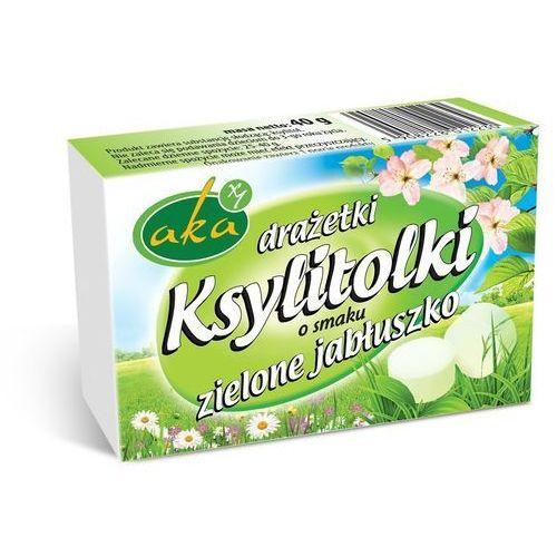 Ksylitolki drażetki pudrowe zielone jabłuszko 40g b/c AKA (5908228012230)