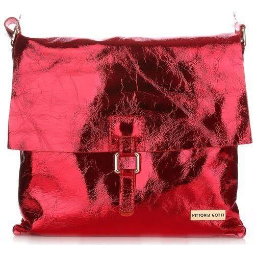 Torebka Listonoszka Vittoria Gotti ze Skóry Lakierowanej Czerwona (kolory)