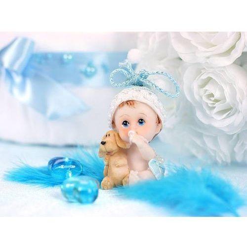 Party deco Figurka - chłopiec z pieskiem - 6 cm (5901157432759)