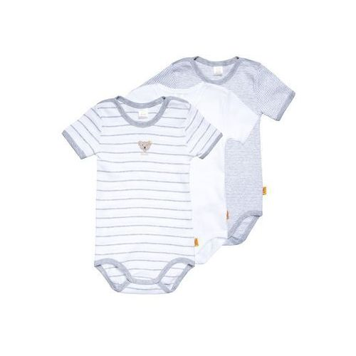 Steiff Collection 1/4 ARM NEWBORN UNISEX ESSENTIALS BABY 3 PACK Body light gray (4056178736391)