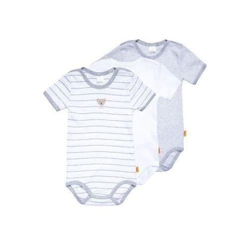 Steiff Collection 1/4 ARM NEWBORN UNISEX ESSENTIALS BABY 3 PACK Body light gray, kolor szary