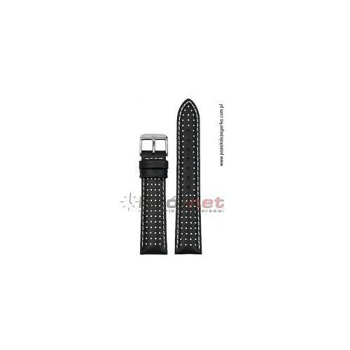 Pasek PA110/24 - czarny, białe wstawki, kolor czarny