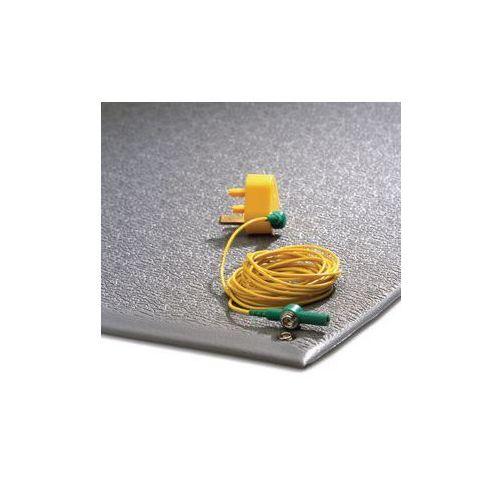 Mata zapobiegająca zmęczeniu, nie przewodząca prądu,z kablem uziemiającym, szare pcv marki Coba plastics