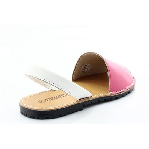 MARIETTAS 550 FUKSJA - Hiszpańskie skórzane sandały minorki - Różowy
