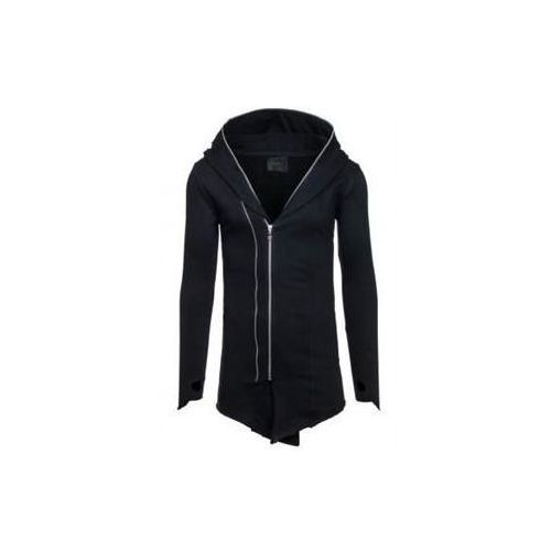 Długa bluza męska z kapturem czarna denley 2036-1 marki J.style