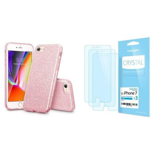 Zestaw | etui glitter shine + folia spigen crystal film - iphone 7 / 8 marki Esr