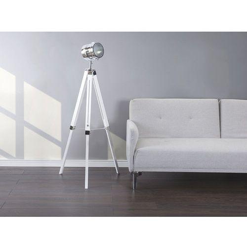 Lampa stojąca biała 143 cm alzette marki Beliani