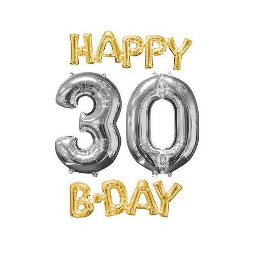 Zestaw balonów foliowych na 30 urodziny - 4 szt.