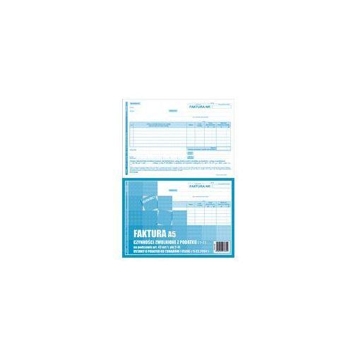 Druk Faktura dla czynnosci zwol z VAT FZw A5 1+1, DR862
