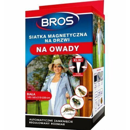 Siatka na drzwi magnetyczna biała Bros (160 cm x 220 cm) (5904517204379)