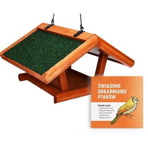 Drewniany karmnik dla ptaków z daszkiem. podwieszane karmidło dla ptaków. marki Trixie