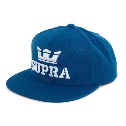 czapka z daszkiem SUPRA - Above Snap Ocean/White-White (474) rozmiar: OS, kolor biały