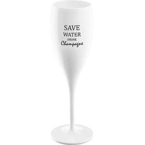 Koziol Kieliszek do szampana cheers z napisem save water drink champagne (4002942425176)
