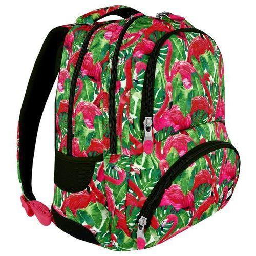 Plecak szkolny St.Right BP-07 Flamingo Pink&Green St.Majewski, kolor zielony