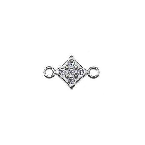 Łącznik / Zawieszka Kwadracik z kamieniami Swarovski, srebro 925 S-CHARM 297