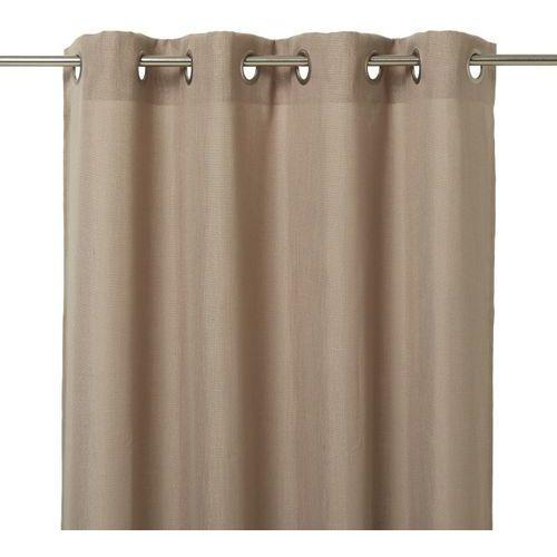 Firana GoodHome Kippens 140 x 260 cm brązowa, kolor brązowy