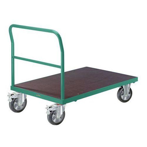 Wózek platformowy, pałąk rurowy, elastyczne ogumienie pełne, dł. x szer. 1050x70