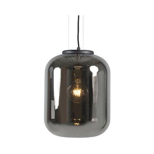 Designerska lampa wisząca czarna z dymnym szkłem - bliss marki Qazqa