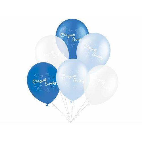 Zestaw balonów na chrzest dla chłopca - 30 cm - 6 szt. marki Pal