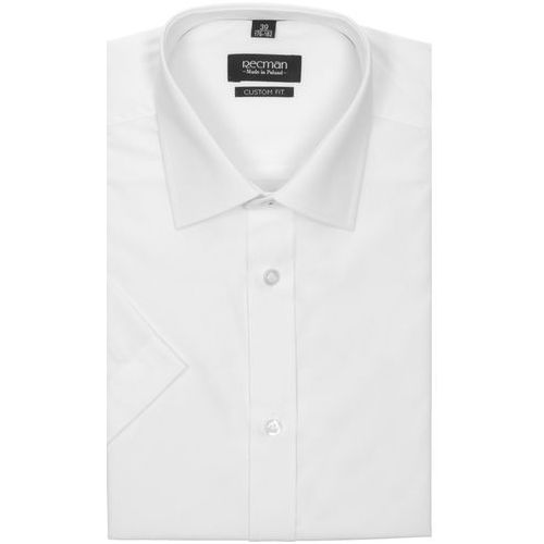 Recman Koszula versone 9001 krótki rękaw custom fit biały